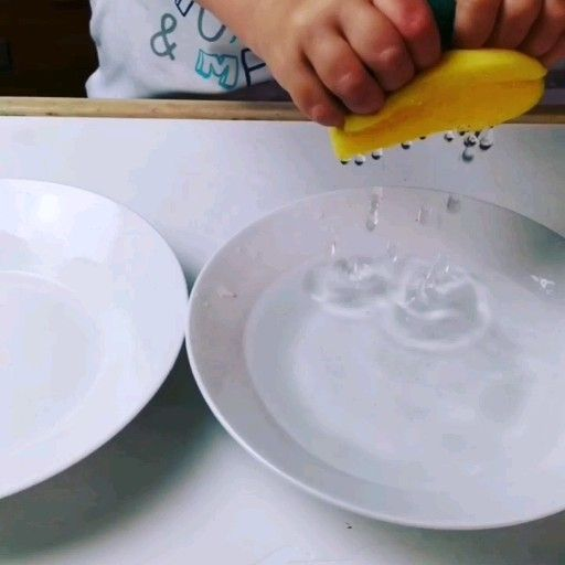 Water transfer with sponge transferir agua con esponja transfer de apa cu burete