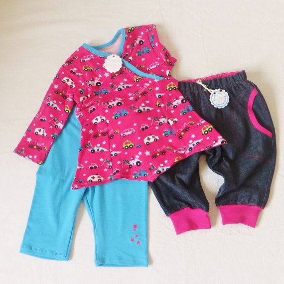 Babykleding Meisje Maat 62.3 Delige Babykleding Set Voor Een Meisje Maat 62 68 Babytuniekje
