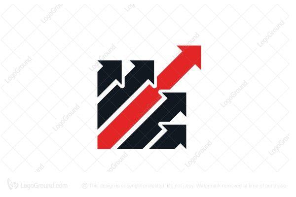 Logo for sale Success Leadership Arrow Logo Unique arrows logo - profit & loss template free