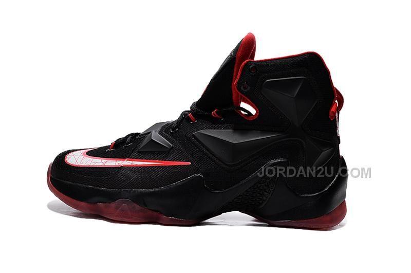 733573494b526 Mens Cheap Nike LeBron 13 Black and Red 2015 Cheap Nike Running Shoes
