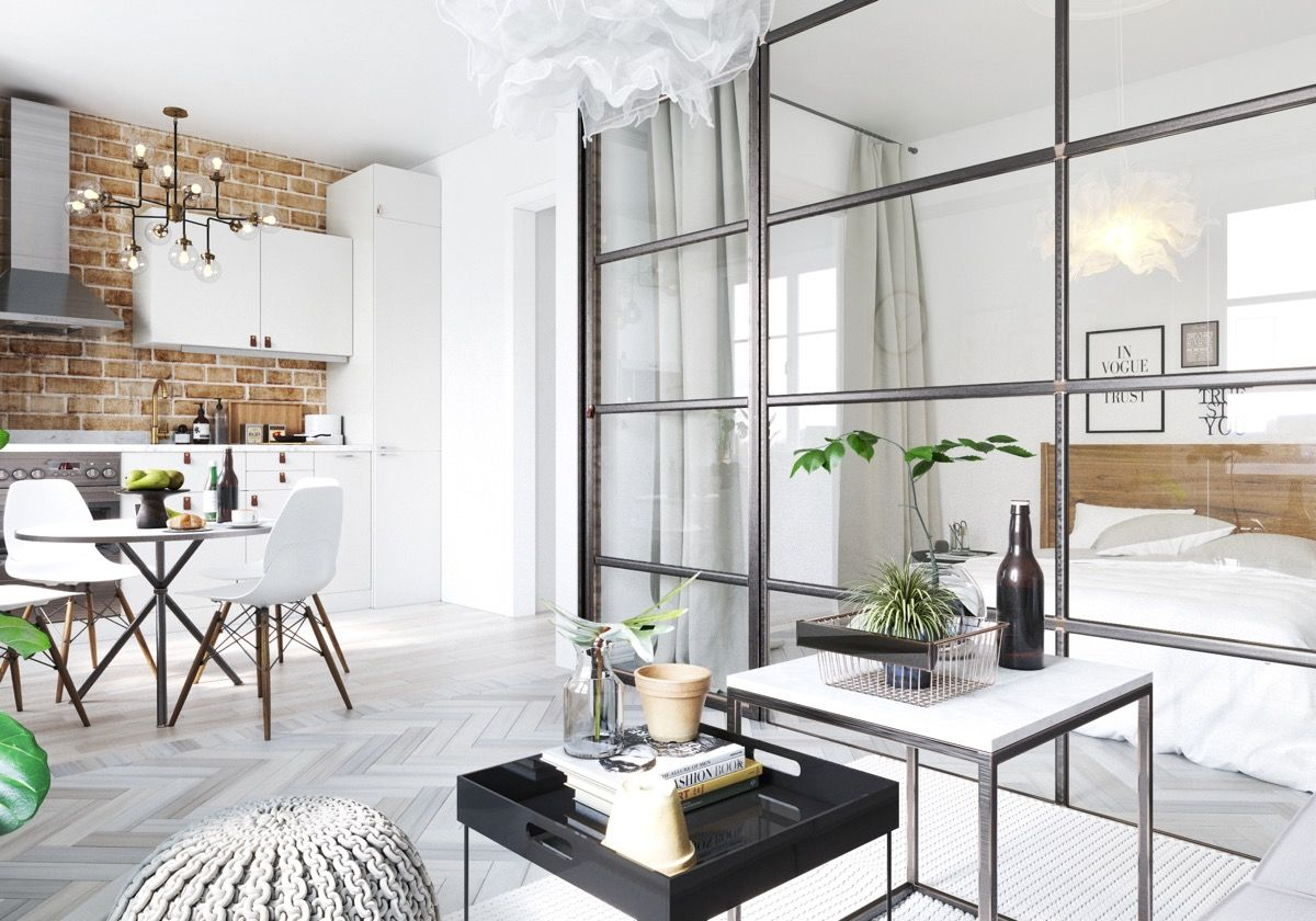 6 Sleek Studios with Glass Walled Bedrooms | Pinterest | Studio ...
