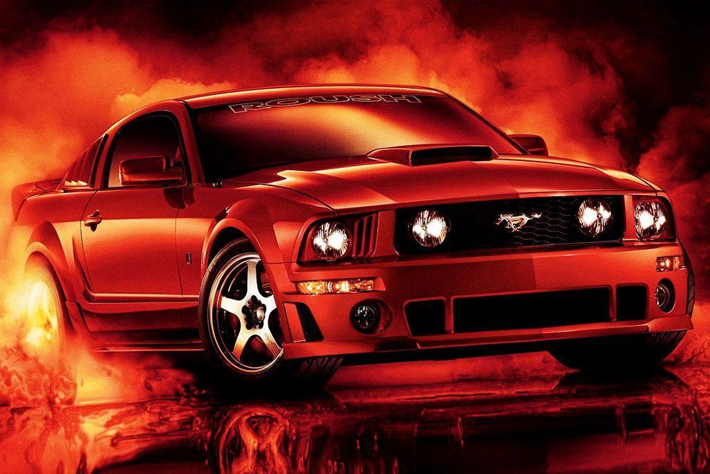 Ford Mustang Poster Mustang Wallpaper Red Mustang Ford Mustang