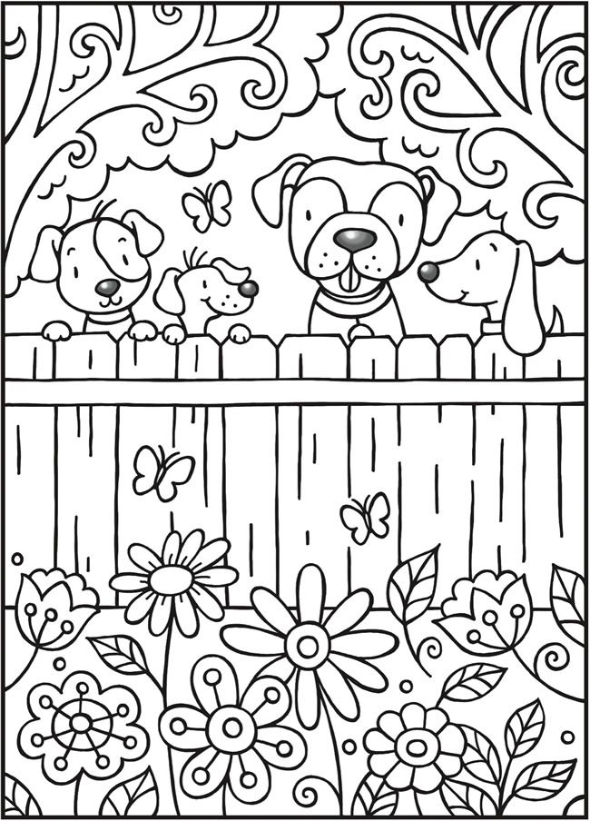 Welcome To Dover Publications Spark Puppy Love Puppy Coloring Pages Cute Coloring Pages Dog Coloring Page