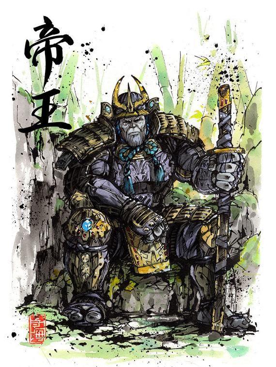 Fine Art Print SAMURAI OVERLORD - Thanos inspired