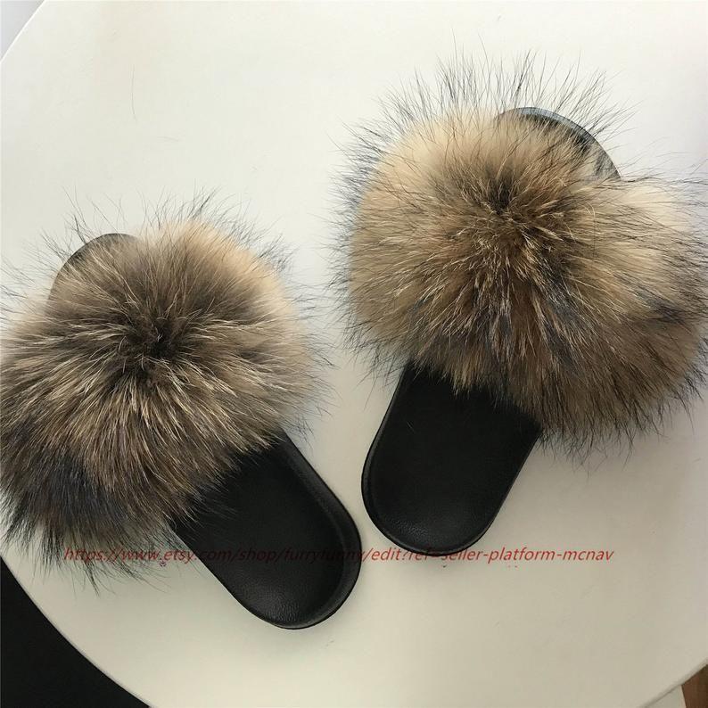 Fur slides, Fluffy shoes, Fluffy sandals