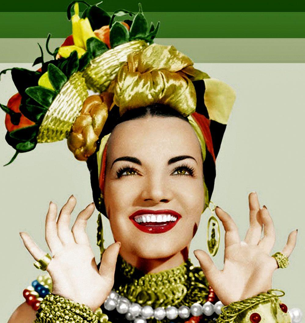 Maria do Carmo Miranda da Cunha, mais conhecida como Carmen Miranda, foi uma cantora e atriz luso-brasileira. Sua carreira artística transcorreu no Brasil e Estados Unidos entre as décadas de 1930 e 1950. Wikipédia