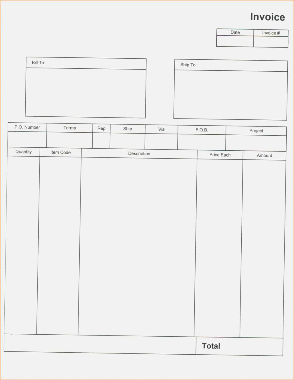 Quickbooks Invoice Templates Download Desktop Template Excel With Regard To Quickbooks Invoice Templa Blank Invoice Template Invoice Template Printable Invoice