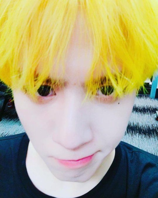 This Yellow Haired Bean Was Trending ˏˋ G O T 7 ˊˎ Got7 Got7