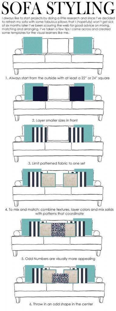 Decorar un sofá con cojines | Decoracion de cojines