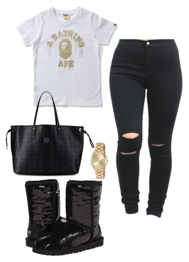 """Untitled #66"" by tay-liangg on Polyvore featuring Michael Kors, UGG Australia and MCM"