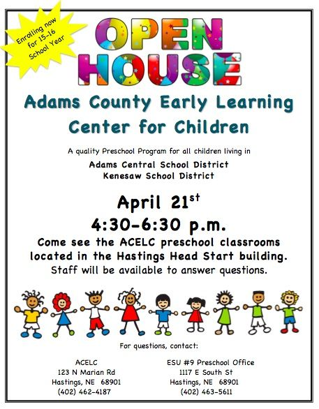 Image Result For Preschool Open House Flyer  Open House