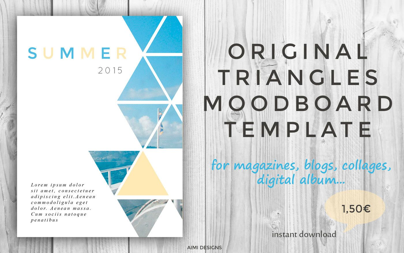 triangles moodboard template triangles photo collage psd archive