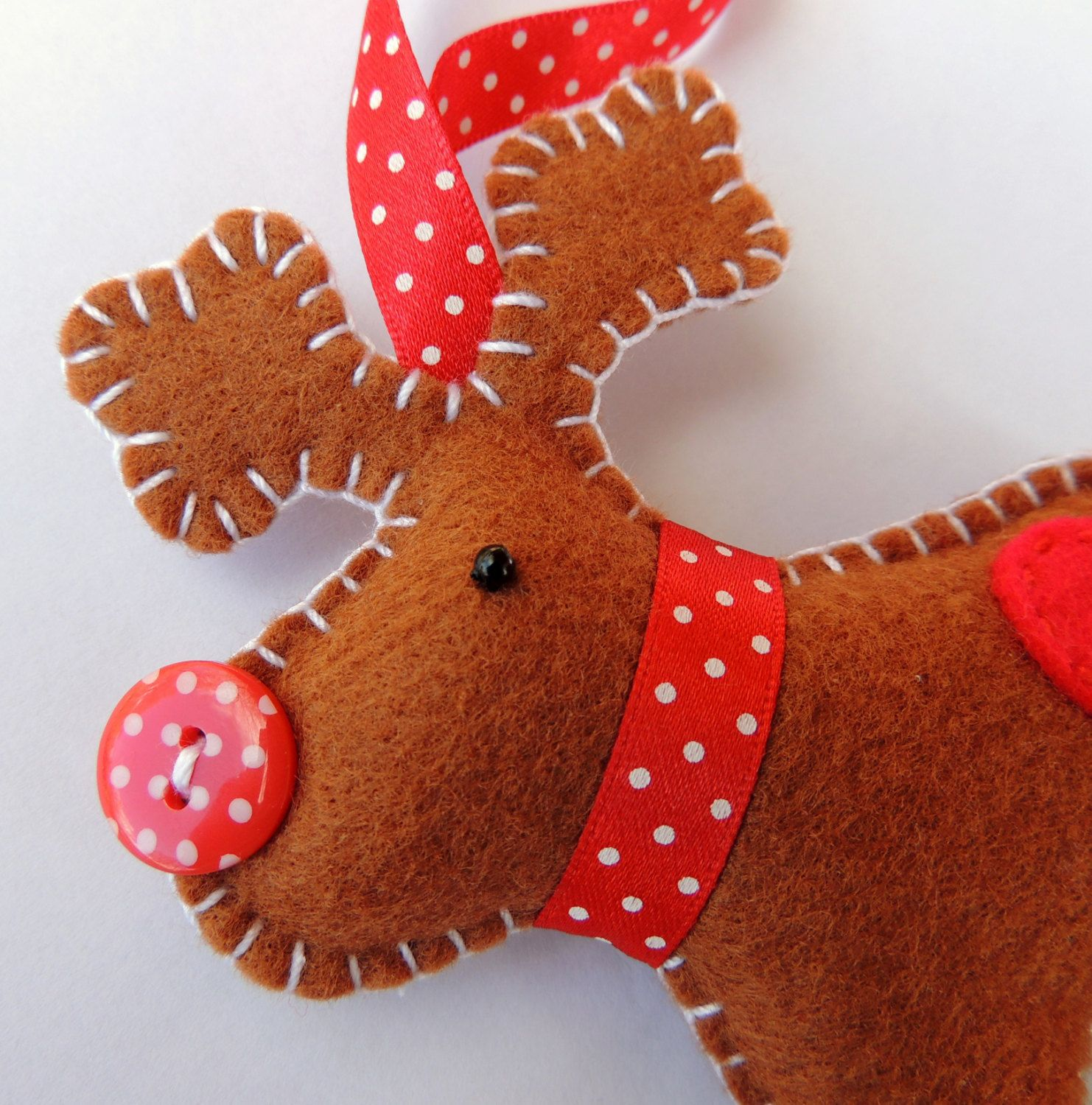 Christmas Reindeer Felt Decoration