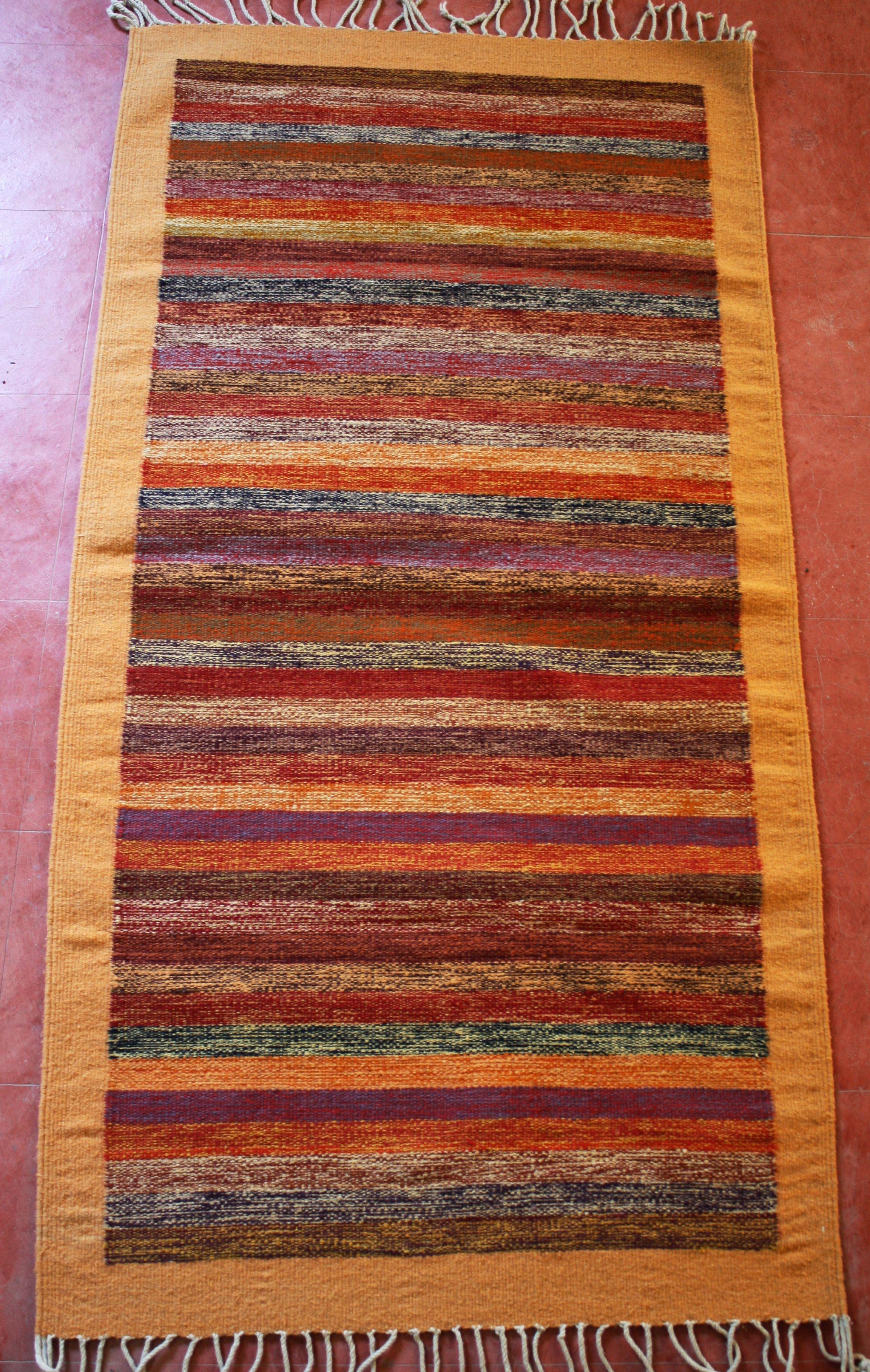 Manos Zapotecas Fair Trade Rug Handwoven By Leticia Lazo With