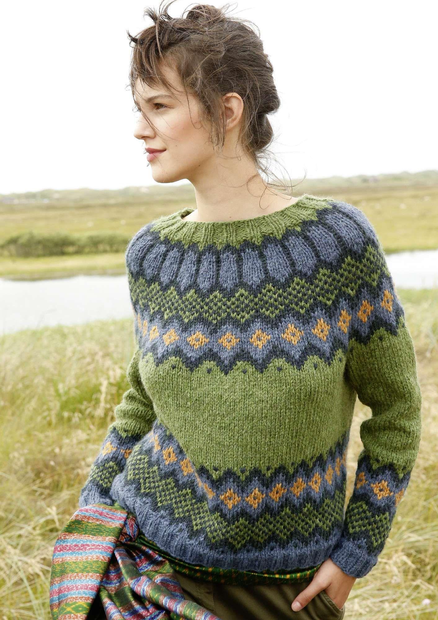 Jacquard stricken: Pullover mit Rundpasse | Pullover