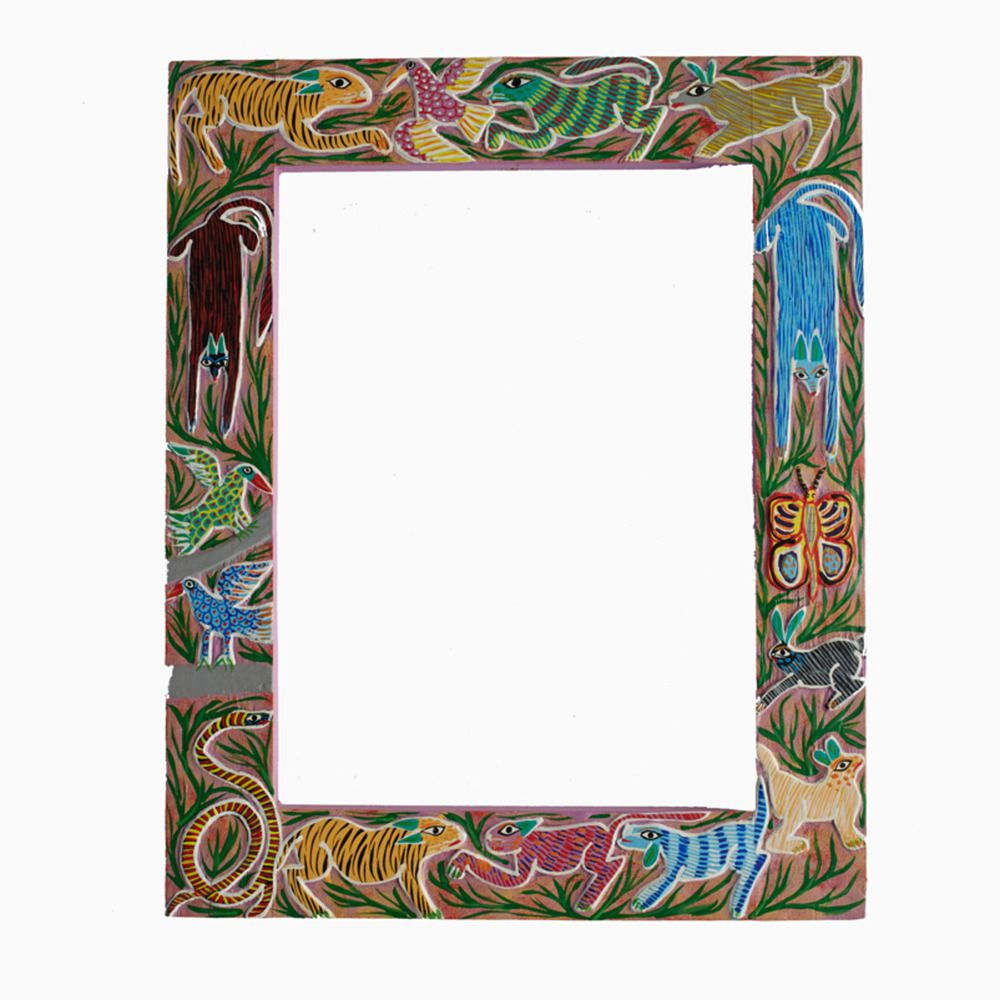 """In the Jungle"""" Mexican Folk Art Frame 