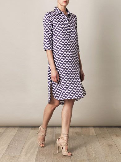 THIERRY COLSON Angelica geometric-print shirt dress...check out the back on this number...