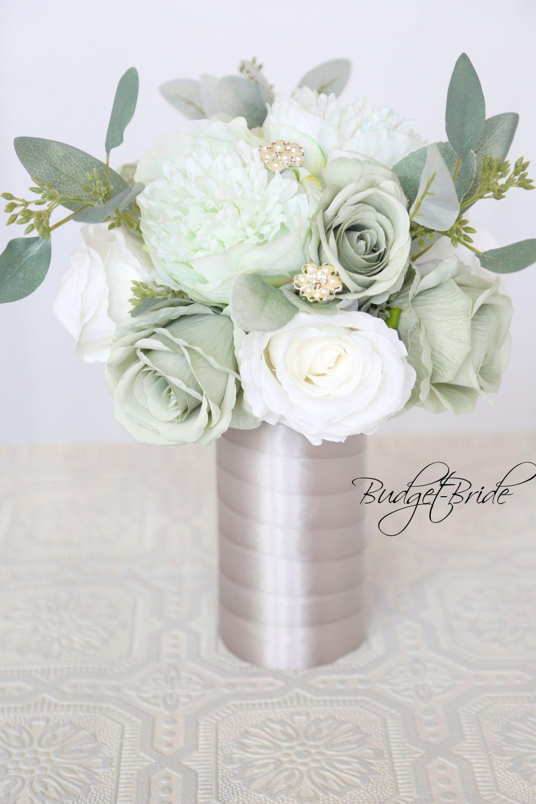 Davids Bridal Mint Green Wedding Bouquet | Green Wedding Flowers ...