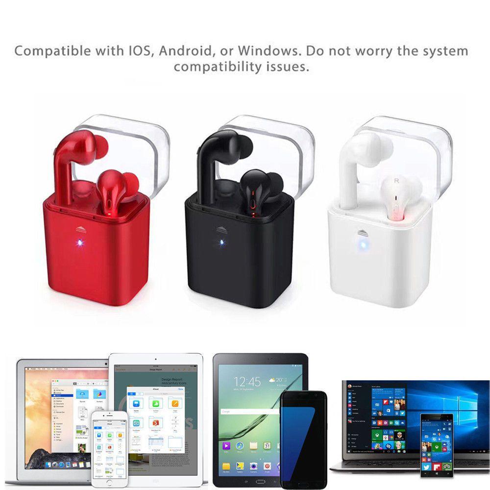 8f0fcf05228 Twin Wireless Bluetooth In-Ear Earphones Stereo Headset 4 Iphone 7, 8, X  Airpod