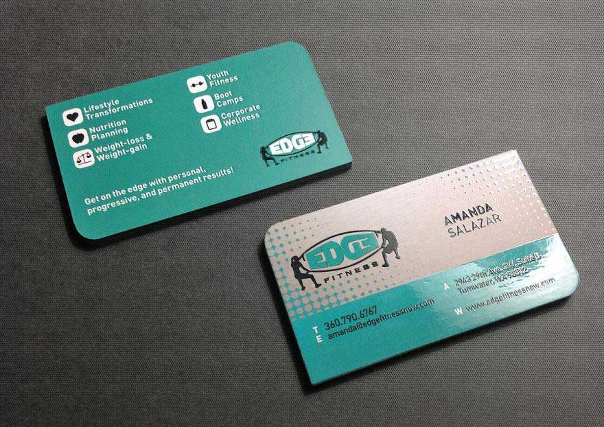 Edge Fitness Spot Uv Business Cards Laminated Business Cards