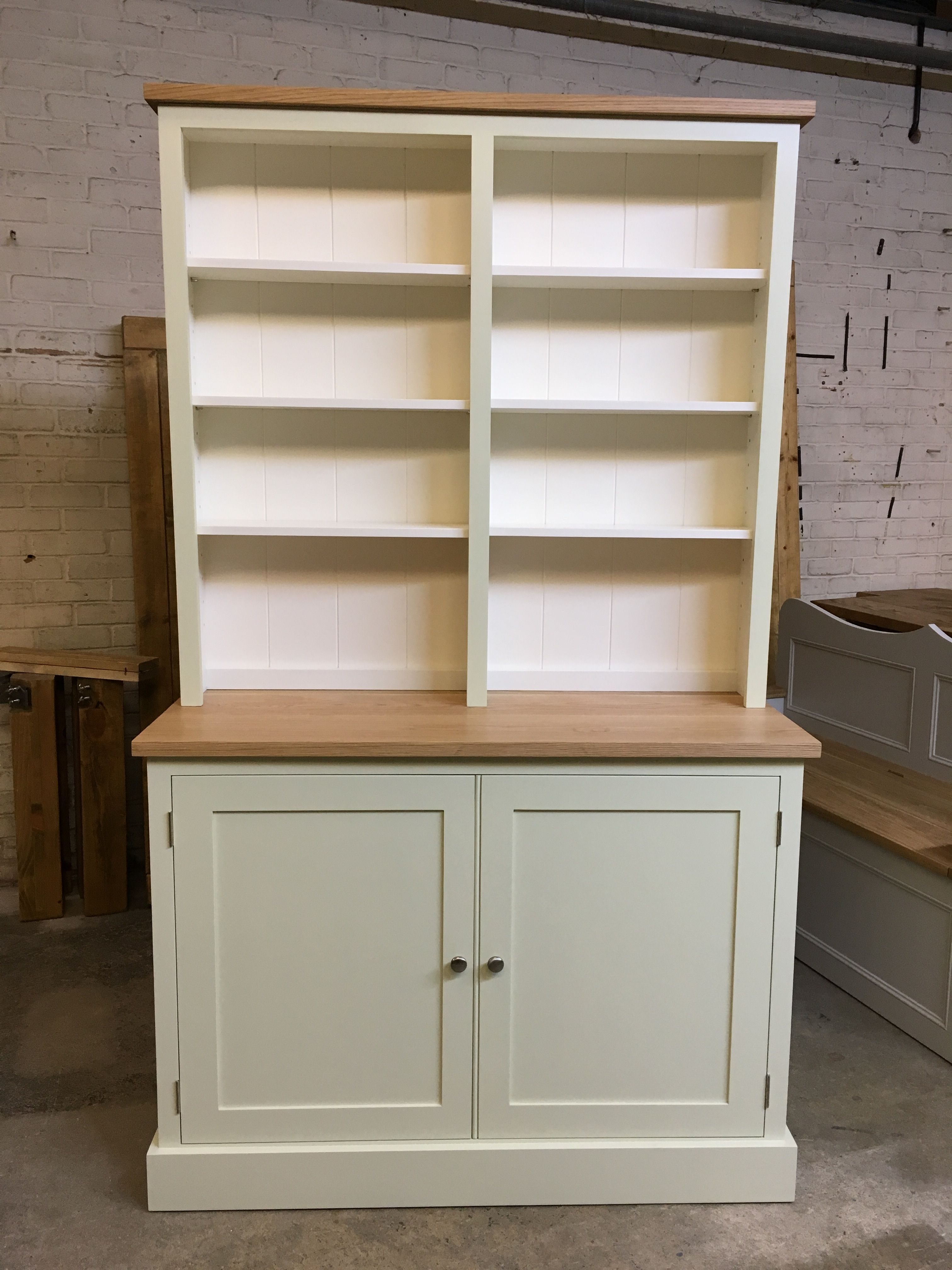 A Bespoke Bookcase Dresser Painted In F B Green Ground And Pointing Www Cobwebsfurniture