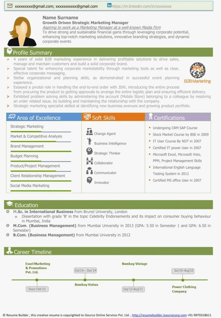 Visual Resume Template Free New 15 Exciting Parts Attending Visual Resume Resume Template Free Digital Marketing Manager