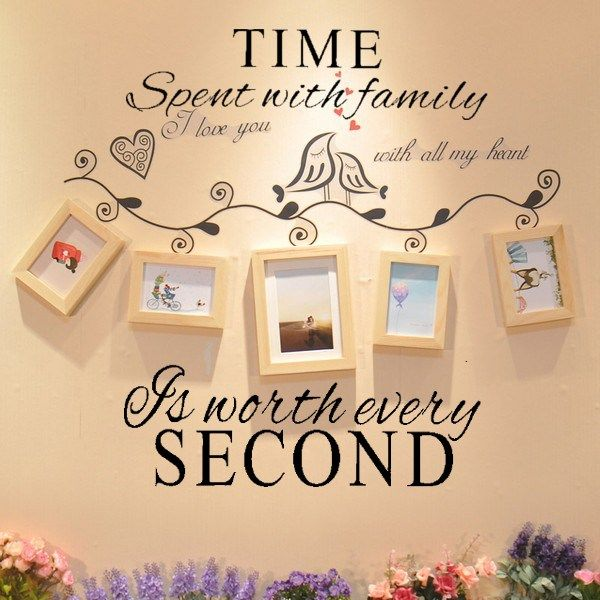 Time Spent With Family Is Worth Every Second Decoration Wall…
