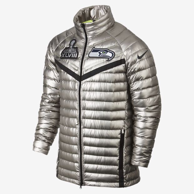online store 7c6e8 bd1cc Nike super bowl silver jacket | Seattle Style | Nfl seahawks ...
