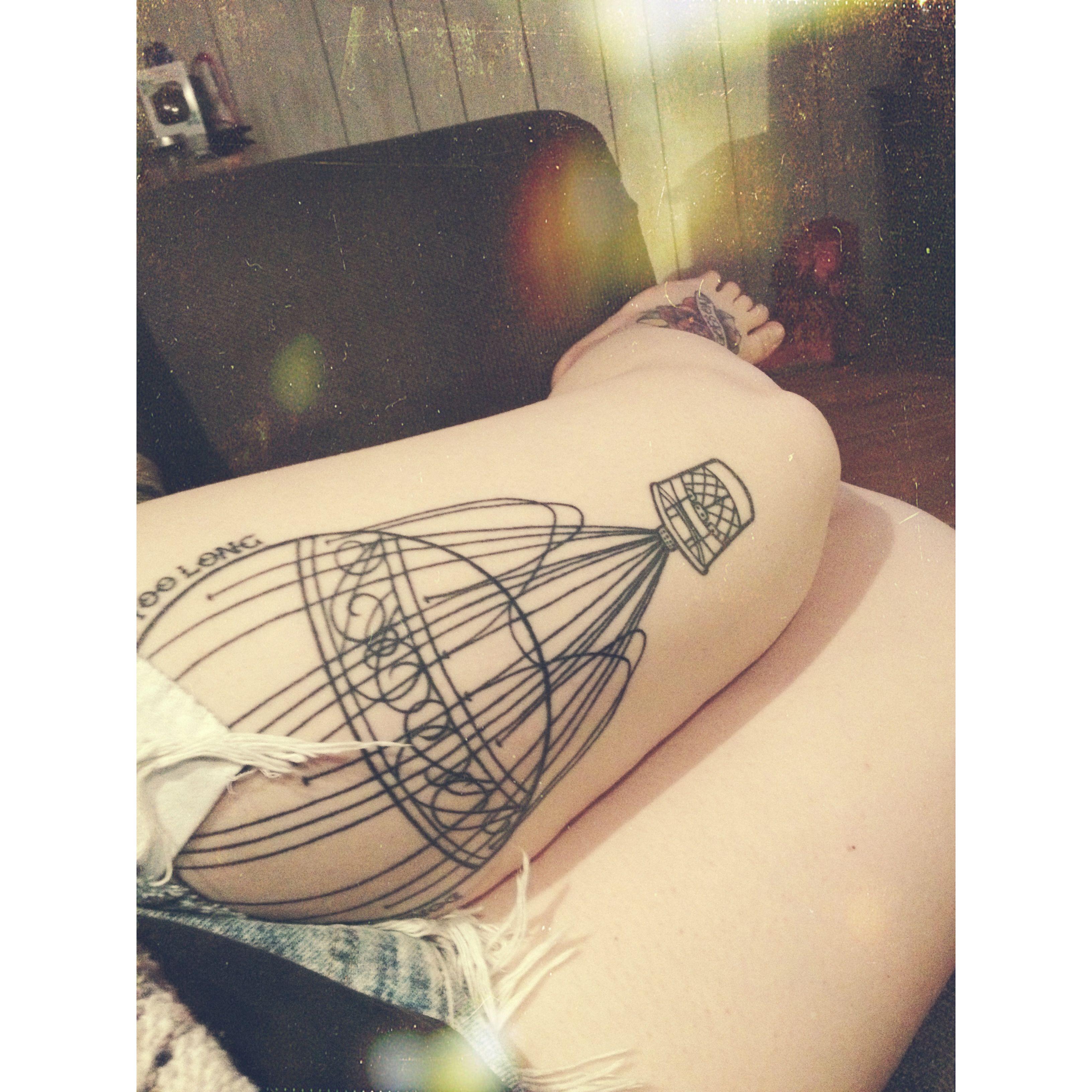 Hot air balloon tattoo #tattoo | Tattoos | Pinterest