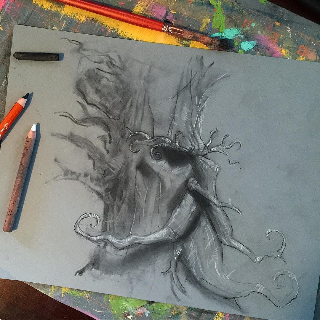 Charcoal Ent sketch for @sketch_dailies... #sketch_dailies #ent #lotr #thelordoftherings #lordoftherings #tolkien #fantasy #fantasyart #sketch #drawing #charcoal #charcoaldrawing #tree #characterdesign #illustration #art #dailysketch #treebeard by munoa13