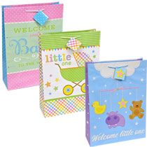 Bulk Voila Extra-Large Baby Shower Gift Bags at DollarTree.com  sc 1 st  Pinterest & Voila Large Baby-Themed Zoo Friends Gift Bags | Gift Bags DTS 2H2016 ...