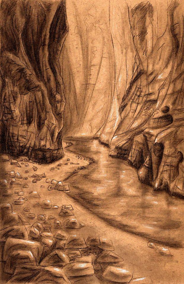 canyon sketch | Sketches, Canyon, Art
