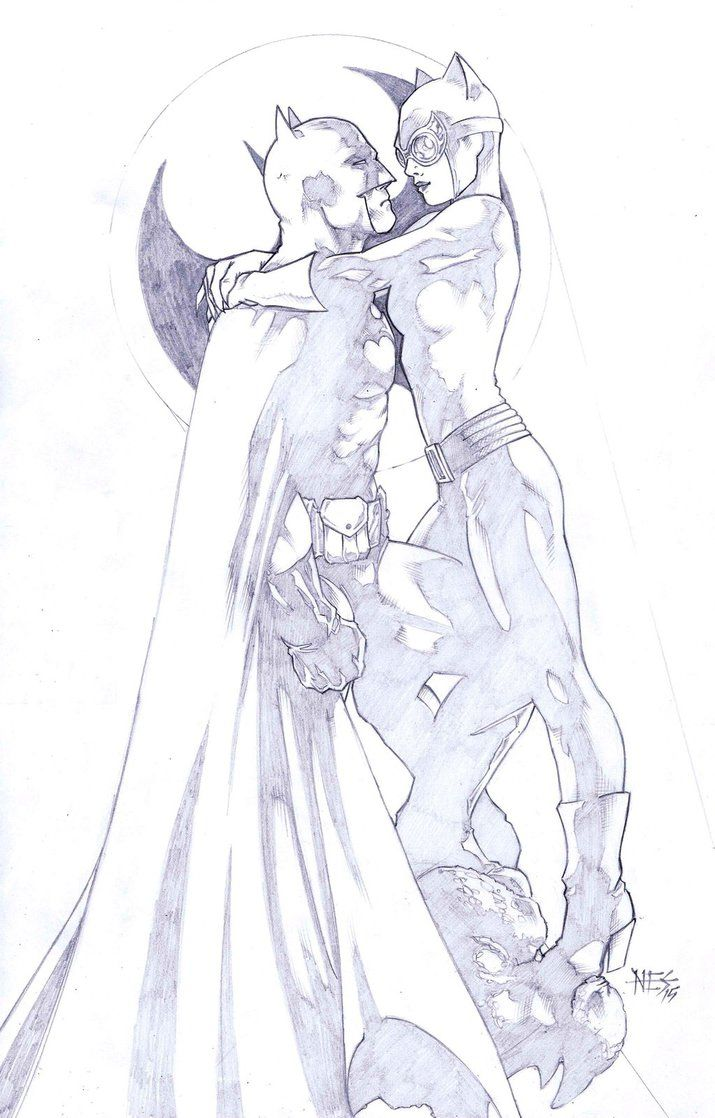 Batman and Catwoman by NewEnglandSketcher