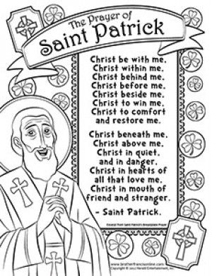 herald store free st patrick coloring pages - St Patrick Coloring Page Catholic