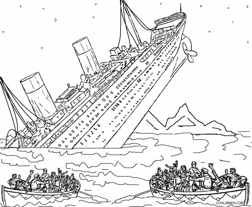 Printable Titanic Coloring Pages For Kids Cool2bkids Titanic Sinking Titanic Drawing Coloring Pages