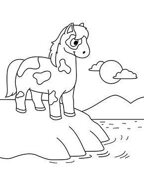 ausmalbild pferd am strand zum ausdrucken in 2020