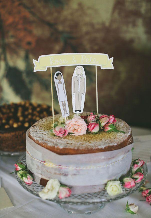 ROSE + PETE #wedding #cake #topper #DIY #roses #flowers #dessert #reception #inspiration