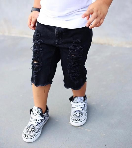 ac4d892a1 toddler boy distressed denim shorts raxtinclothingco distressed denim  fashion baby cool kids distressed jeans