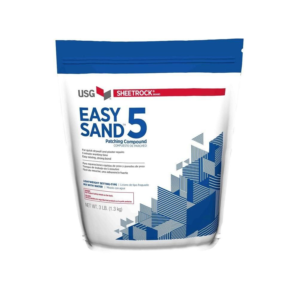 Usg Sheetrock Brand 3 Lb Easy Sand 5 Lightweight Setting Type Joint Compound 384024 The Home Depot Plaster Repair Sheetrock Simple Texture