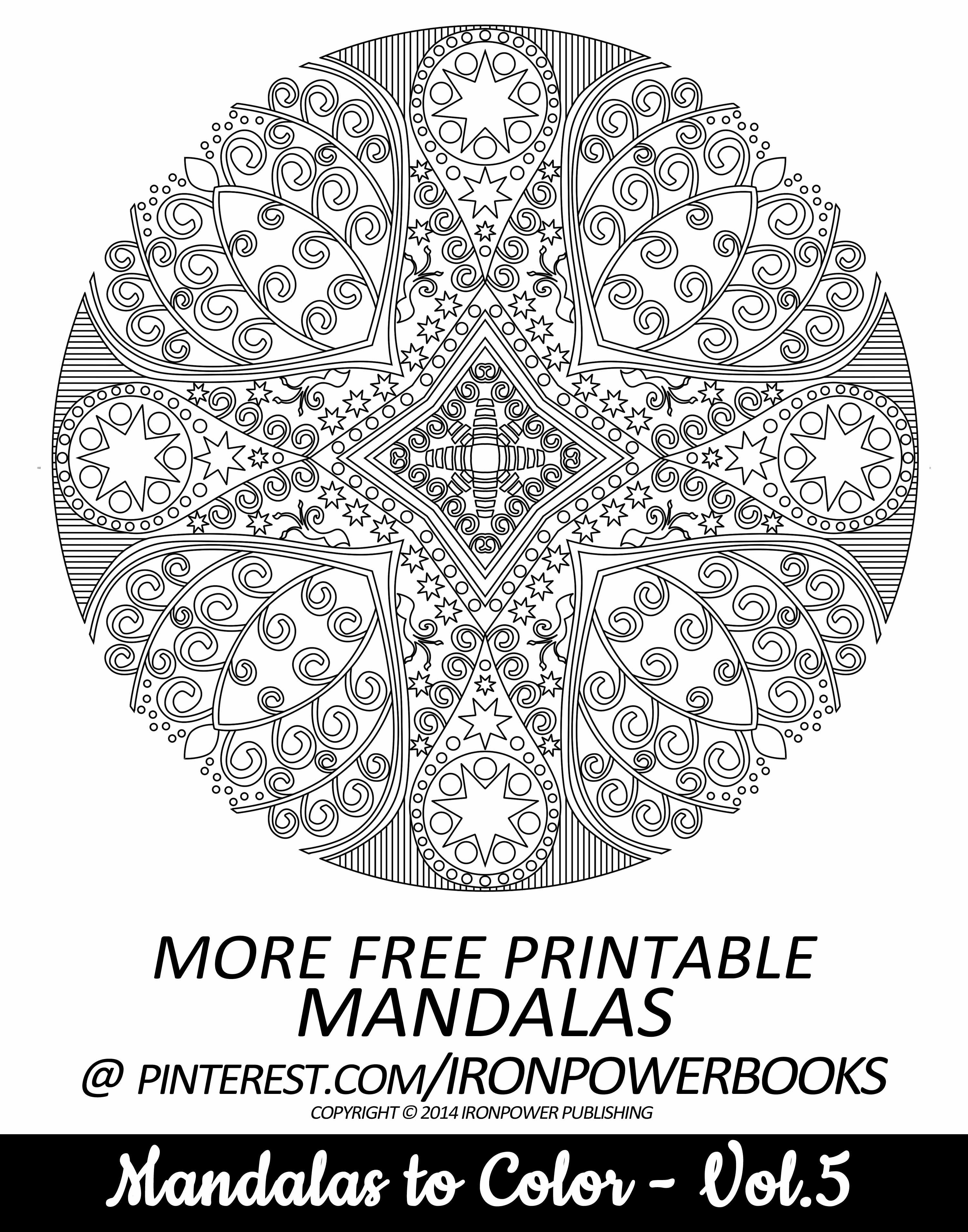 FREE Mandala Coloring Page for Adults | For 49 more unique Mandala Designs check out paperback copy at http://www.amazon.com/Mandalas-Color-Mandala-Coloring-Adults/dp/149733716X | This pin is for personal use only and it will be awesome to pin your colored work in our board!