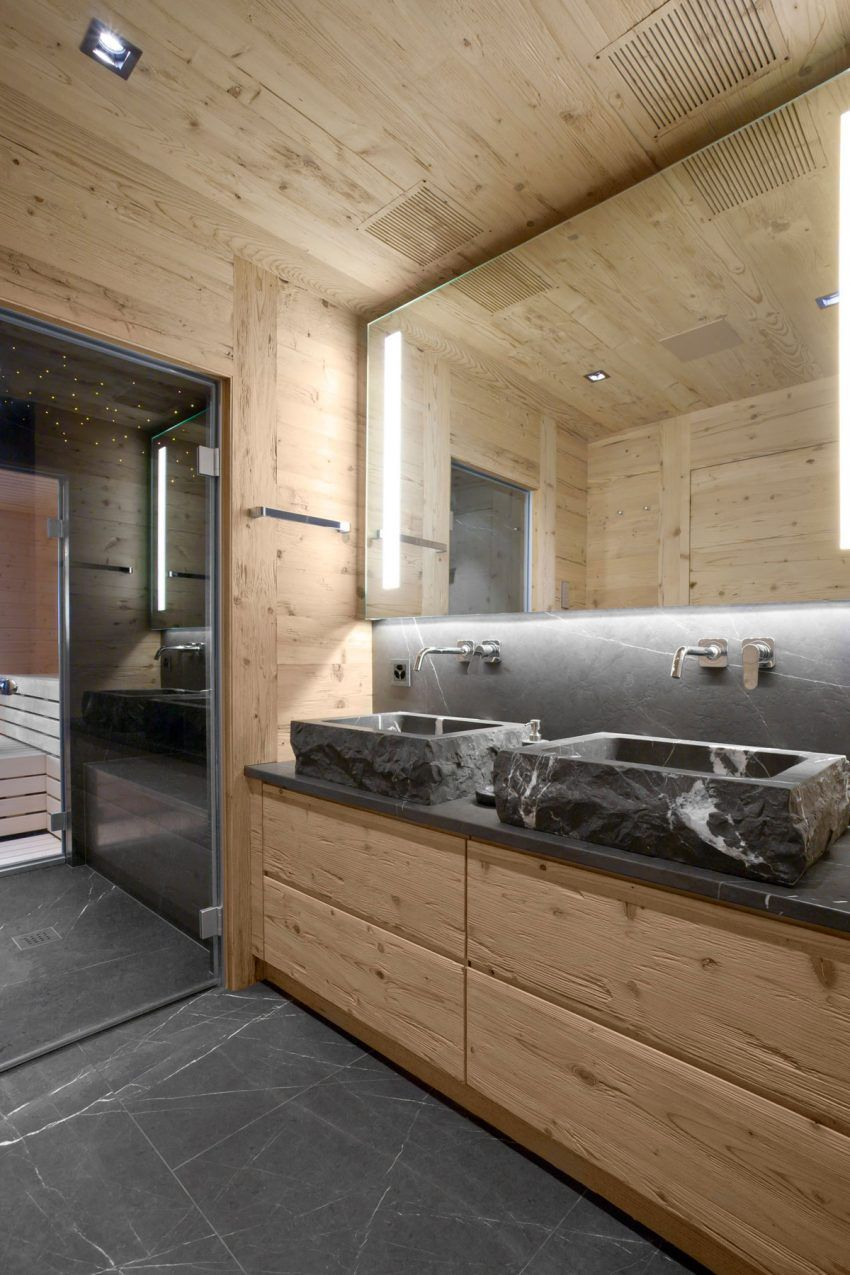 A Cozy Apartment In Rougemont Switzerland Cabin Bathrooms Mountain Interiors House Design