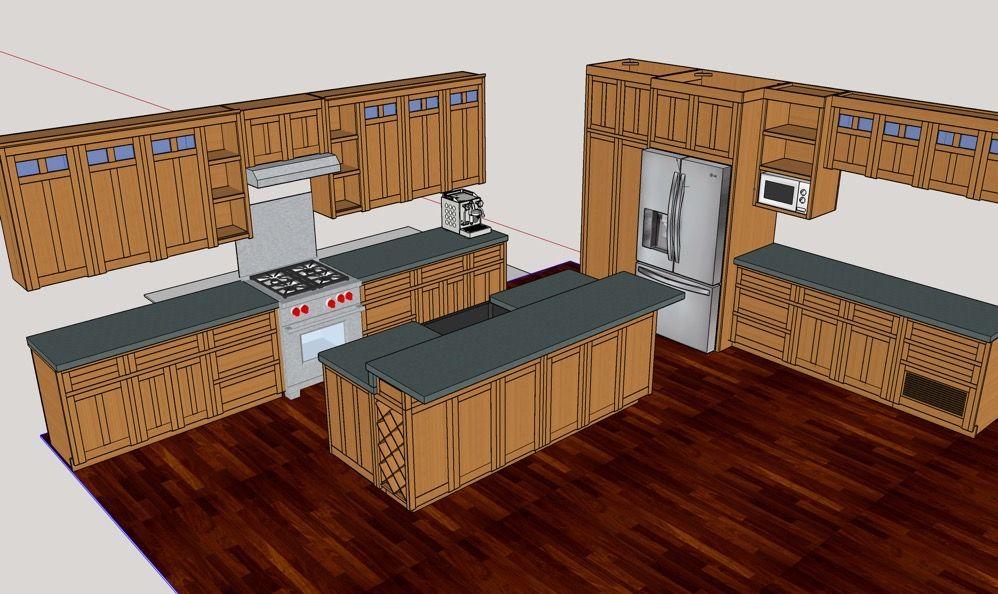 DIY Kitchen Cabinets - The SketchUp Model   Sketchup model ...