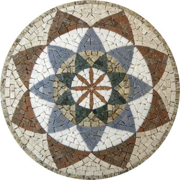 Mandala em mosaico indiana i mosaicos pinterest for Mosaico ceramica