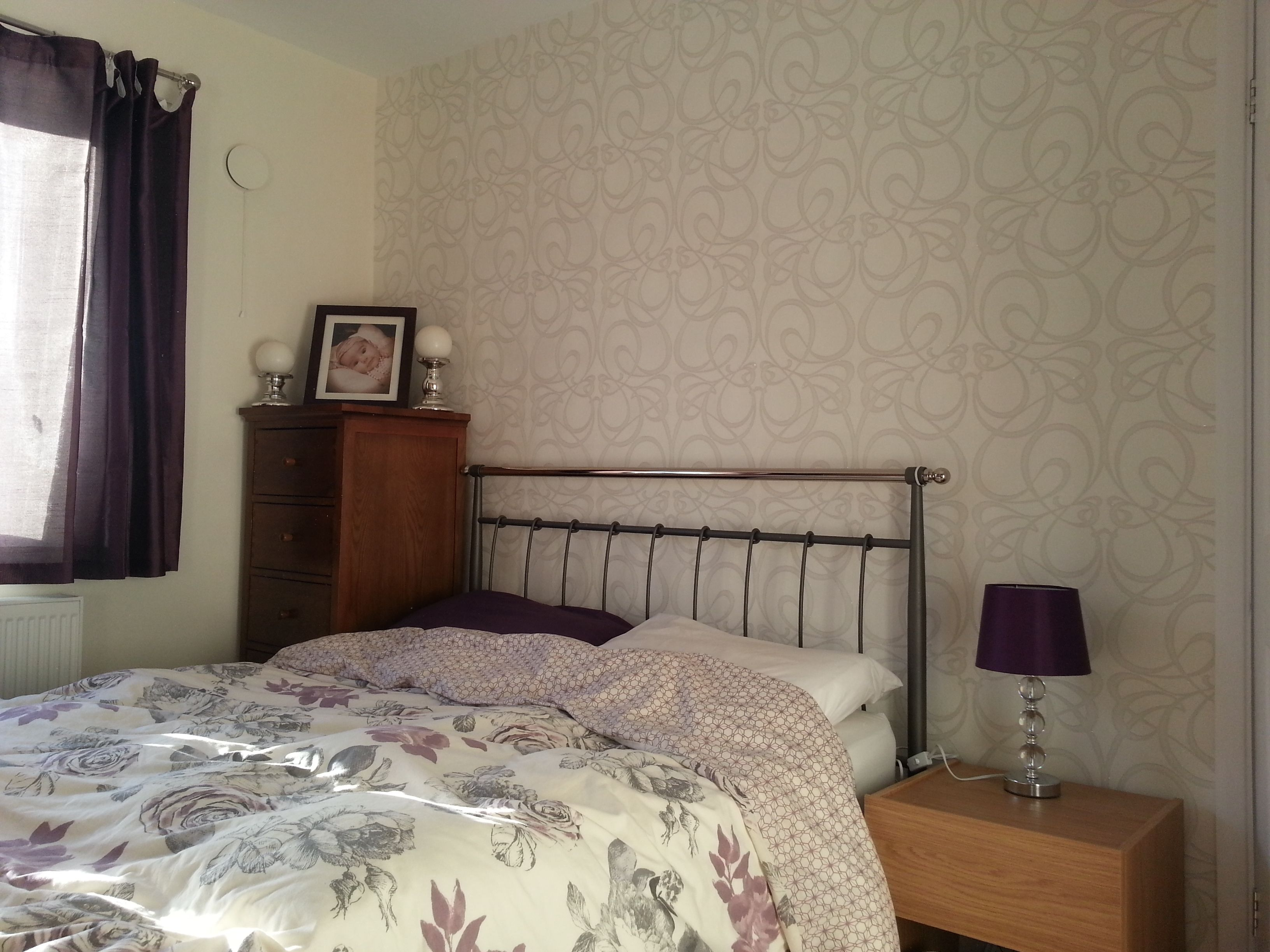 Bedroom Wallpaper Finished Homebase Art Deco Home Make Over