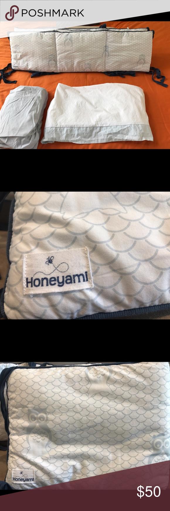 d olast chance d ohoneyami organic crib bumper skirt night owl