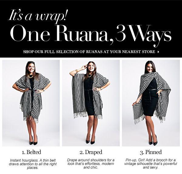 Wrap ruana how to wear video