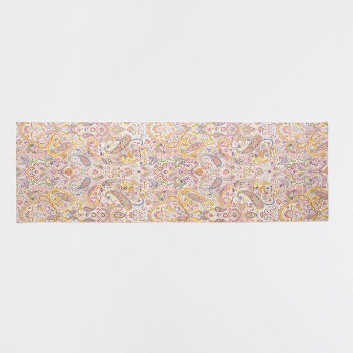 Alfombra algod n paisley multicolor zara chile y textiles for Zara alfombras
