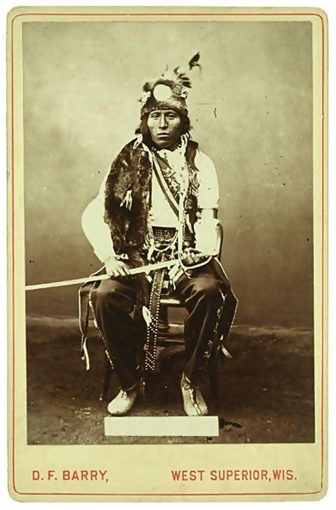 Little John, a man of the Mandan Tribe. Circa 1880