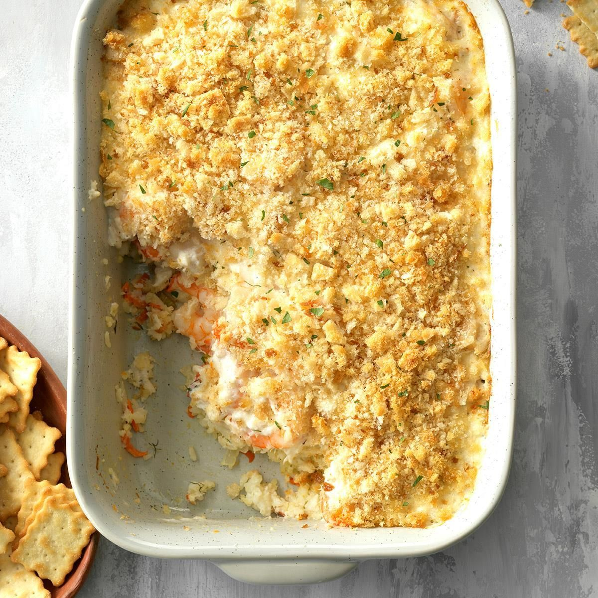 Herbed Seafood Casserole #seafooddishes