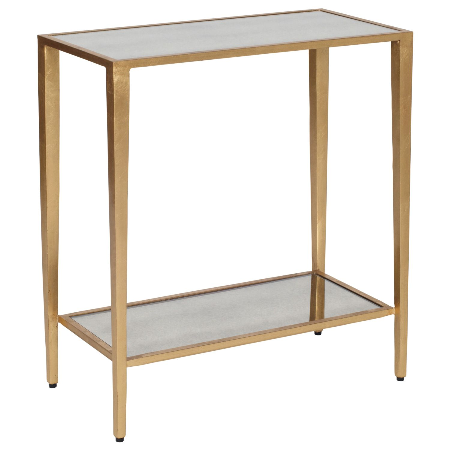 Worlds Away Joyce Gold Side Table Laylagrayce 20 X 10 X 22 H 537 Silver Side Table Gold Side Table Modern End Tables